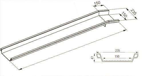 coppia di rampe monoblocco in alluminio varie lunghezze. Black Bedroom Furniture Sets. Home Design Ideas
