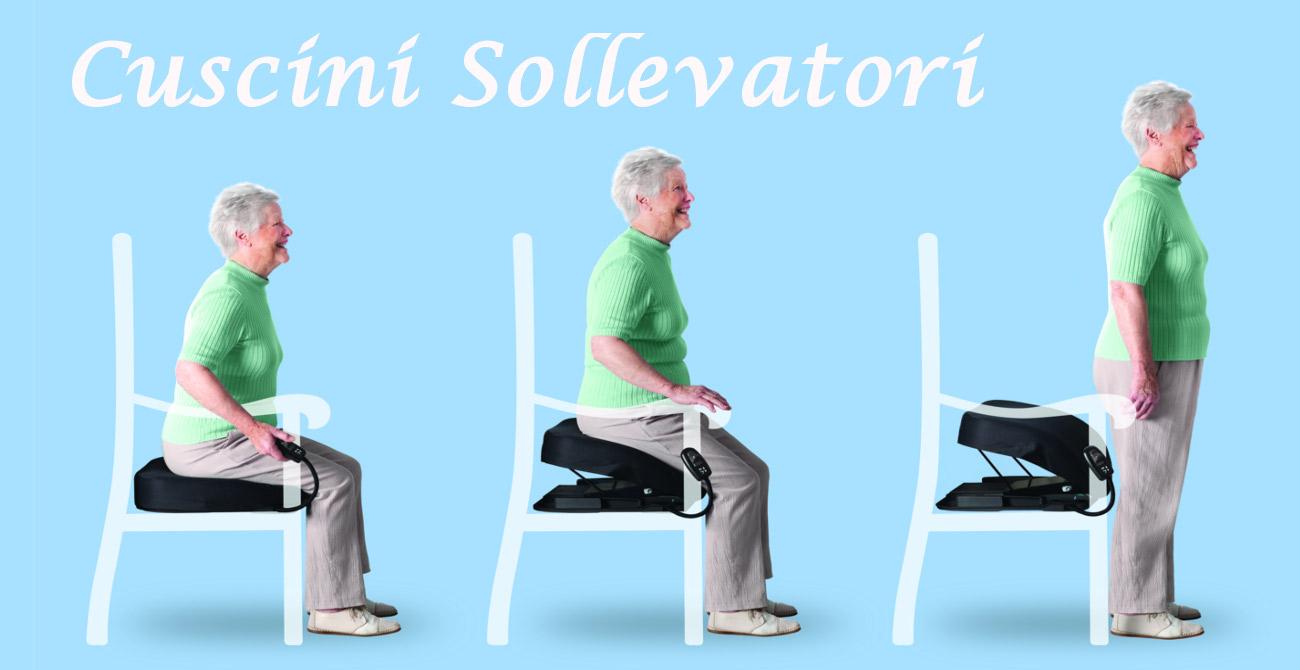 Cuscini sollevatori, facilitatori di seduta, ausilio per alzarsi dalla sedia