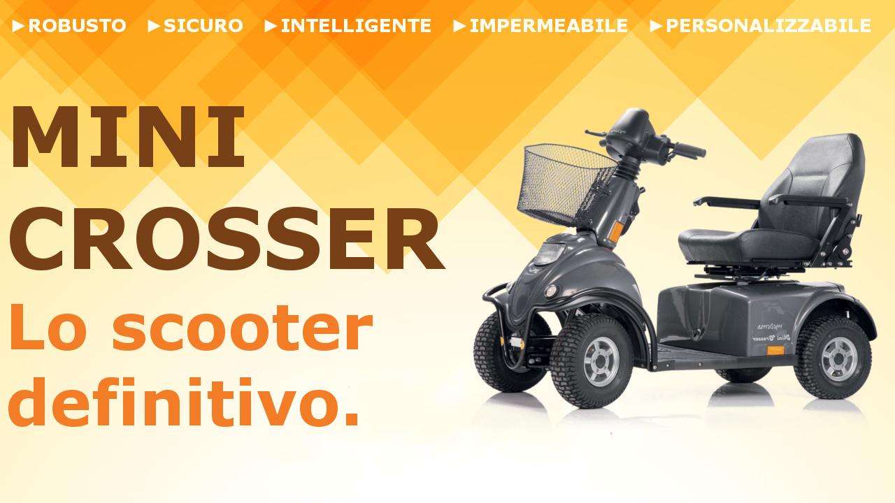 Scooter elettrici disabili, scooter anziani, mini crosser