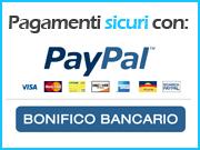 Pagamenti sicuri con PayPal e bonifico bancario