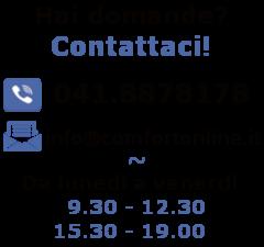 Contatti Comfort Online, contattaci