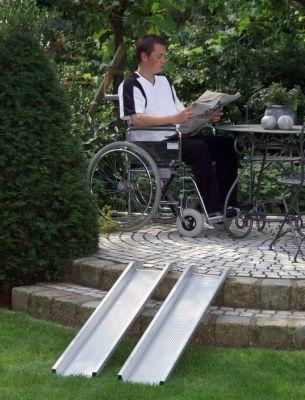 Aluminium monobloc ramps with lenght cm 100