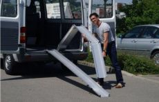 Threee times foldable ramp length 203.5 cm