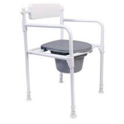 Sedia pieghevole in alluminio, con secchio WC