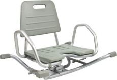 Rotating aluminium bath-tub chair
