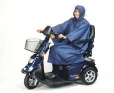 Mantella per la pioggia, colore blu, adulti