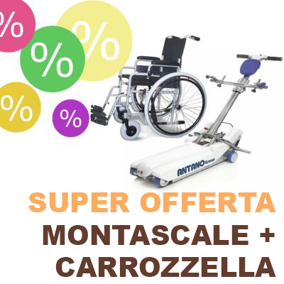 OFFERTA Montascale a cingoli LG2004 Basic+Carrozzella Gratis