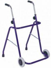 Rollator pieghevole 2 ruote fisse e 2 puntali