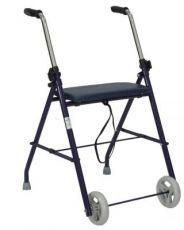 Rollator pieghevole con sedile imbottito